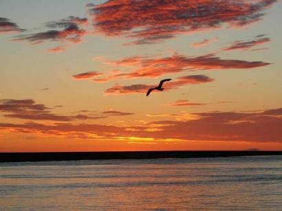 Закат над Оленекской протокой